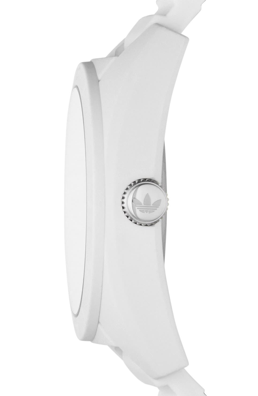 Alternate Image 3  - adidas Originals 'Santiago' Silicone Strap Watch, 42mm