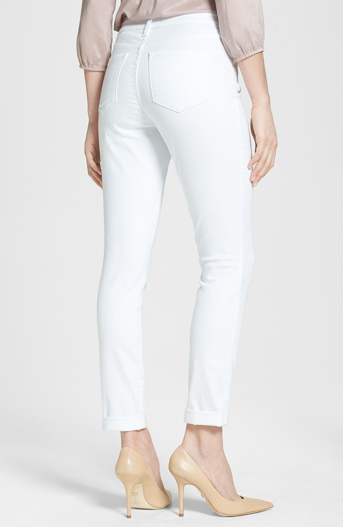 Alternate Image 2  - NYDJ 'Anabelle' Stretch Skinny Jeans (Optic White)