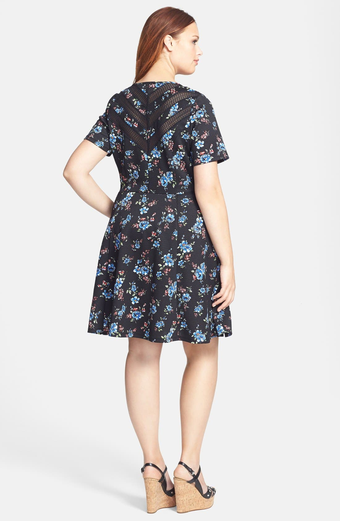 Alternate Image 2  - Jessica Simpson 'Reese' Fit & Flare Dress (Plus Size)