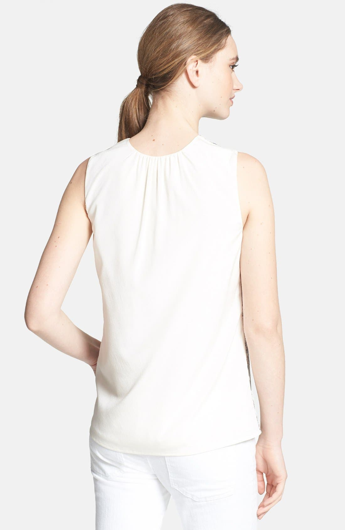 Alternate Image 2  - Tory Burch 'Tanya' Stretch Silk Top