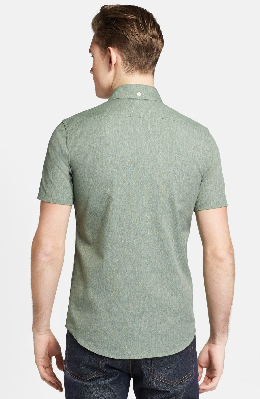 Alternate Image 2  - Pendleton Portland Collection 'Yachats' Short Sleeve Selvedge Poplin Shirt