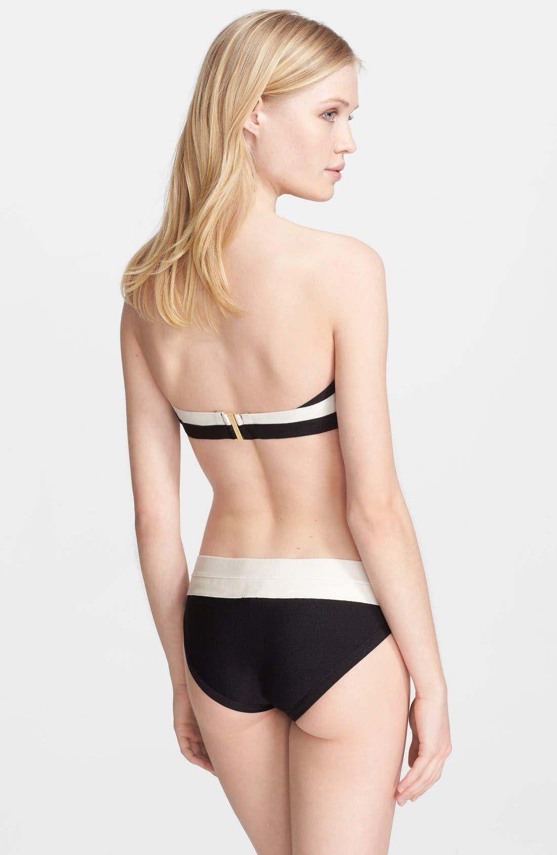 Alternate Image 4  - Herve Leger Black & White Bandage Two-Piece Bikini