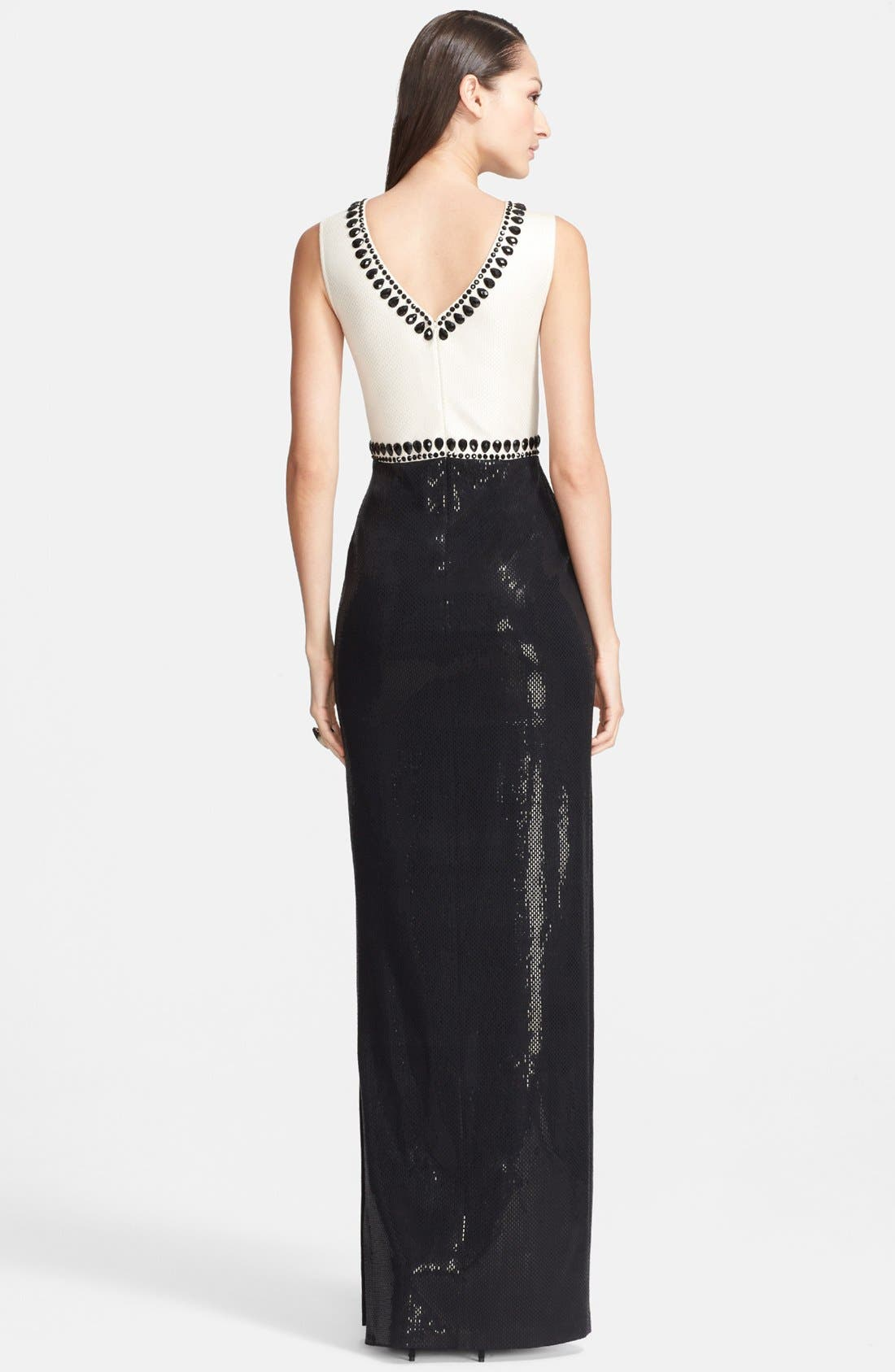 Alternate Image 2  - St. John Collection Gloss Sequined Milano Knit Gown