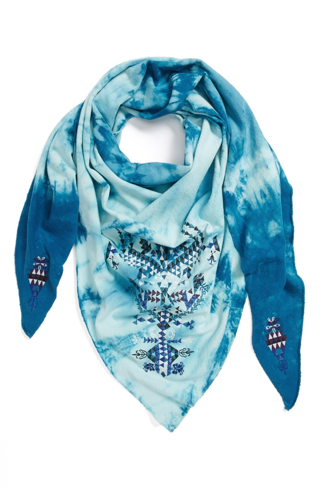 Main Image - Leith Embroidered Triangle Scarf