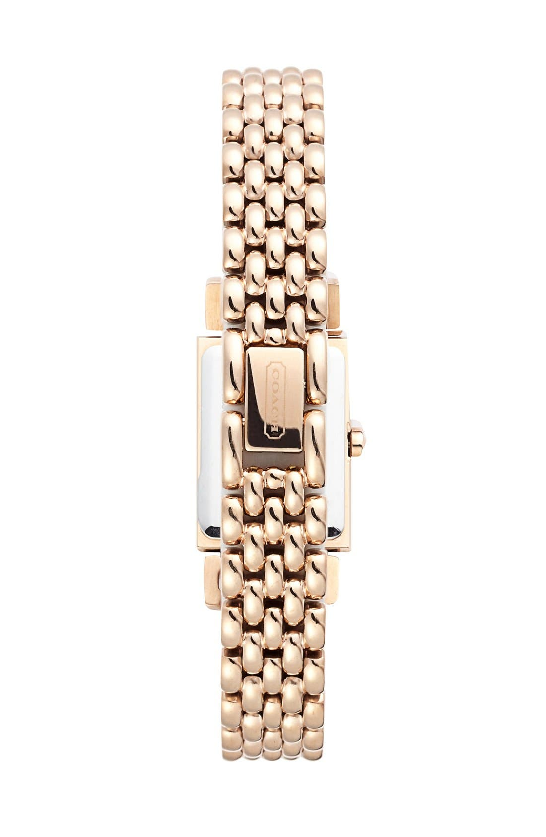 Alternate Image 2  - COACH 'Madison' Crystal Bezel Bracelet Watch, 17mm x 30mm
