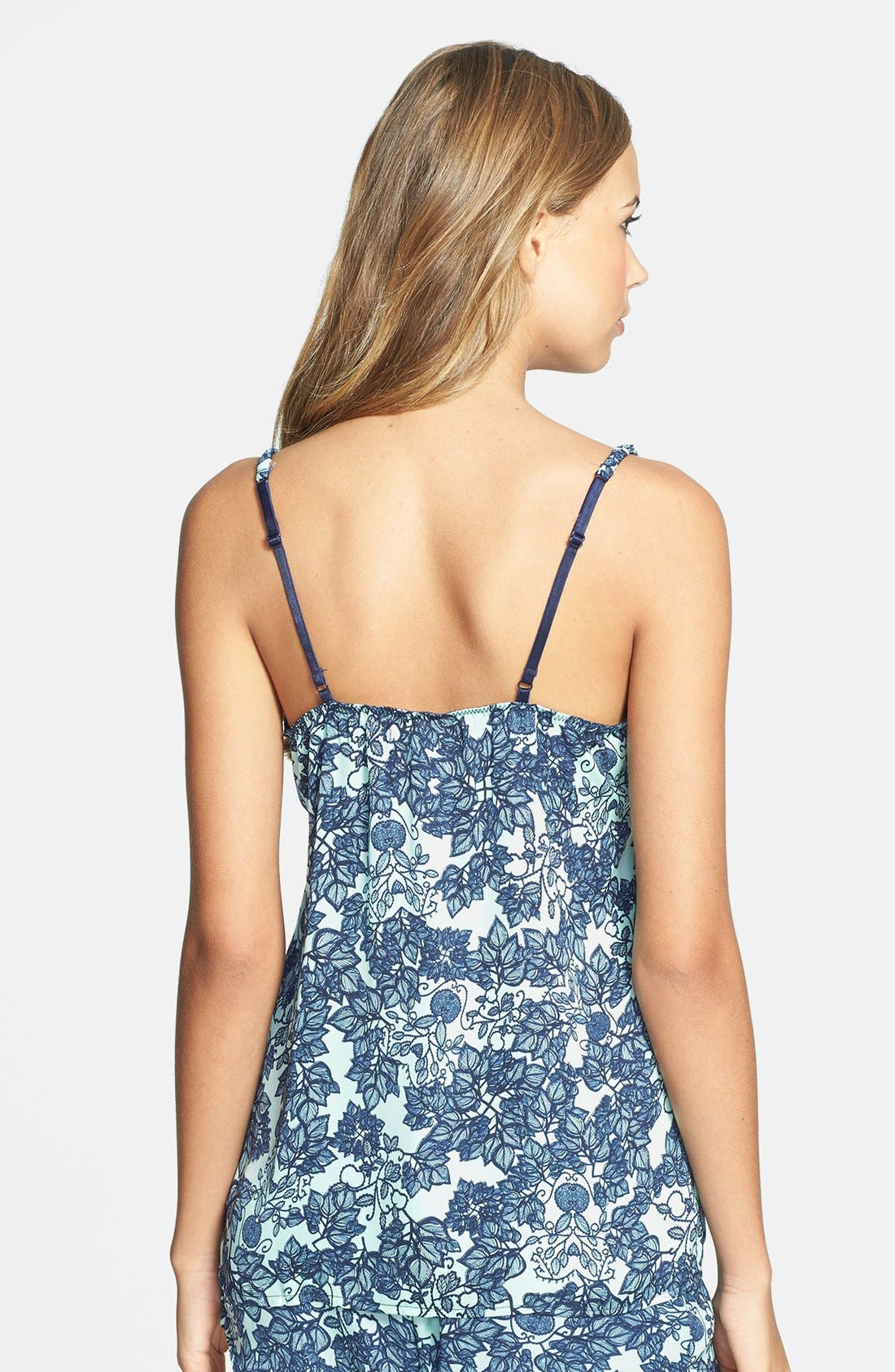 Alternate Image 2  - PJ Luxe 'Mint Leaves' Lace Trim Camisole