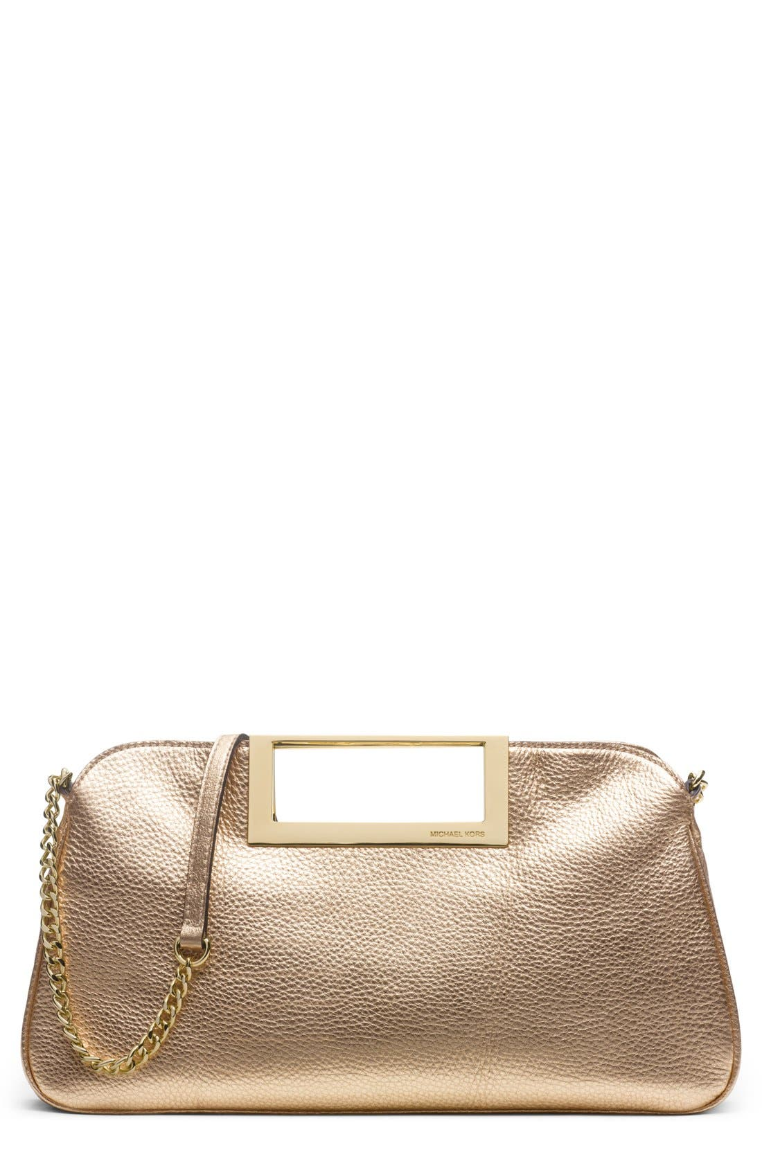 Alternate Image 1 Selected - MICHAEL Michael Kors Metallic Leather Clutch