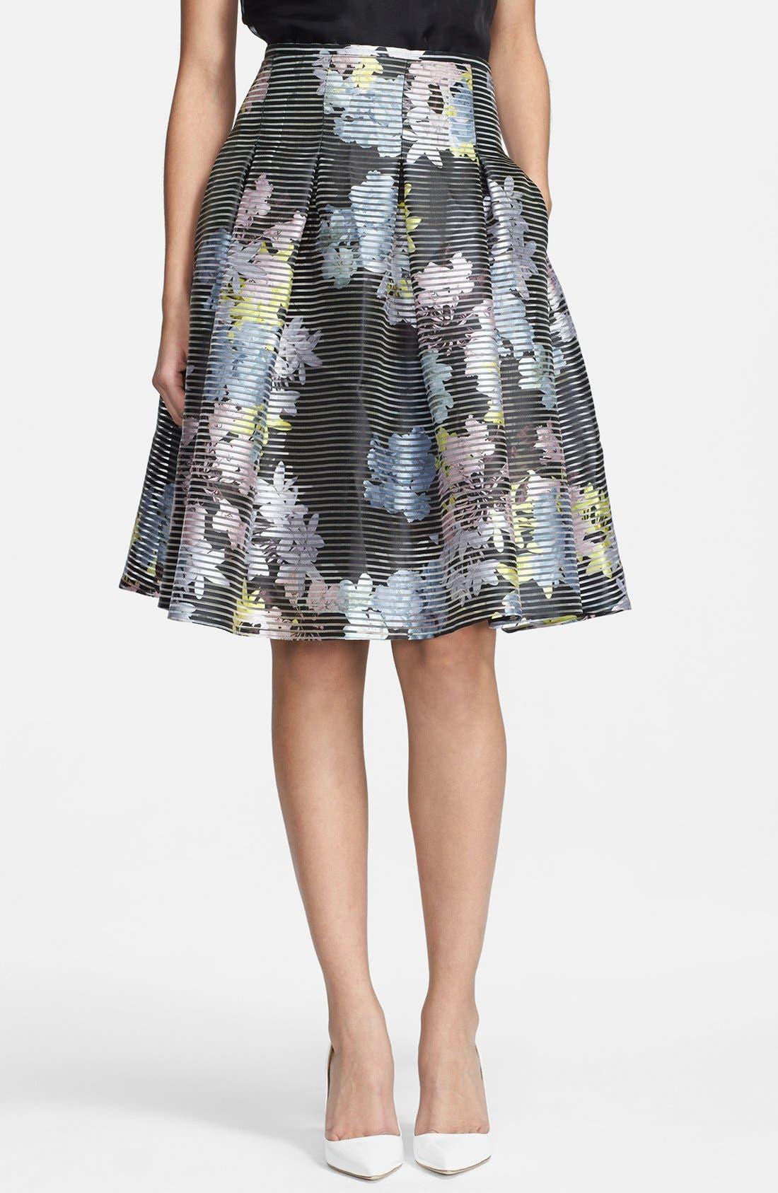 Alternate Image 1 Selected - Erdem Print A-line Organza Skirt