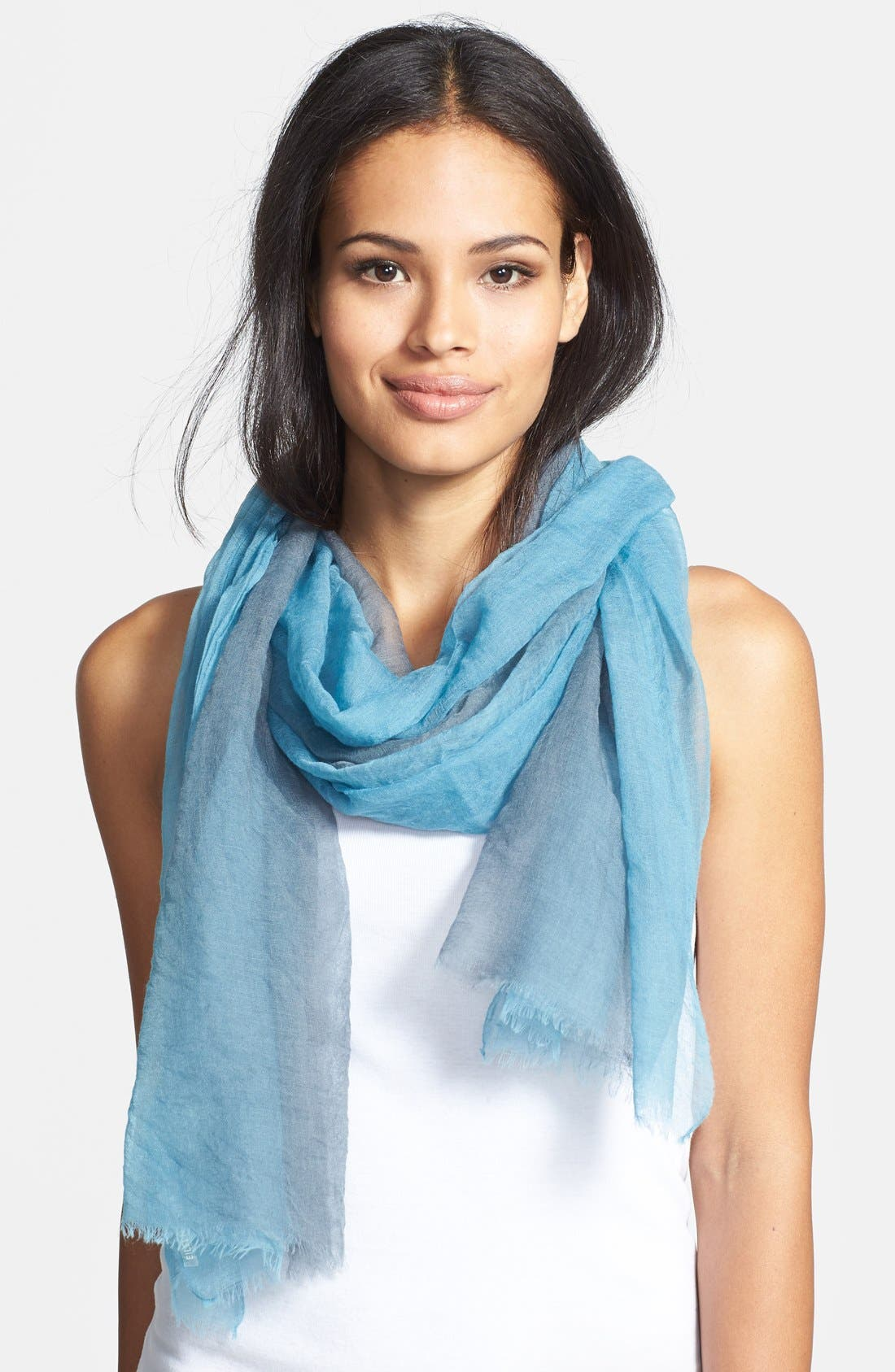 Alternate Image 1 Selected - Eileen Fisher Ombré Featherweight Wool Scarf (Regular & Petite)