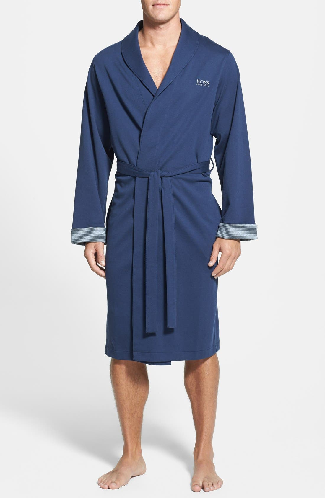 Alternate Image 1 Selected - BOSS HUGO BOSS Cotton Blend Robe