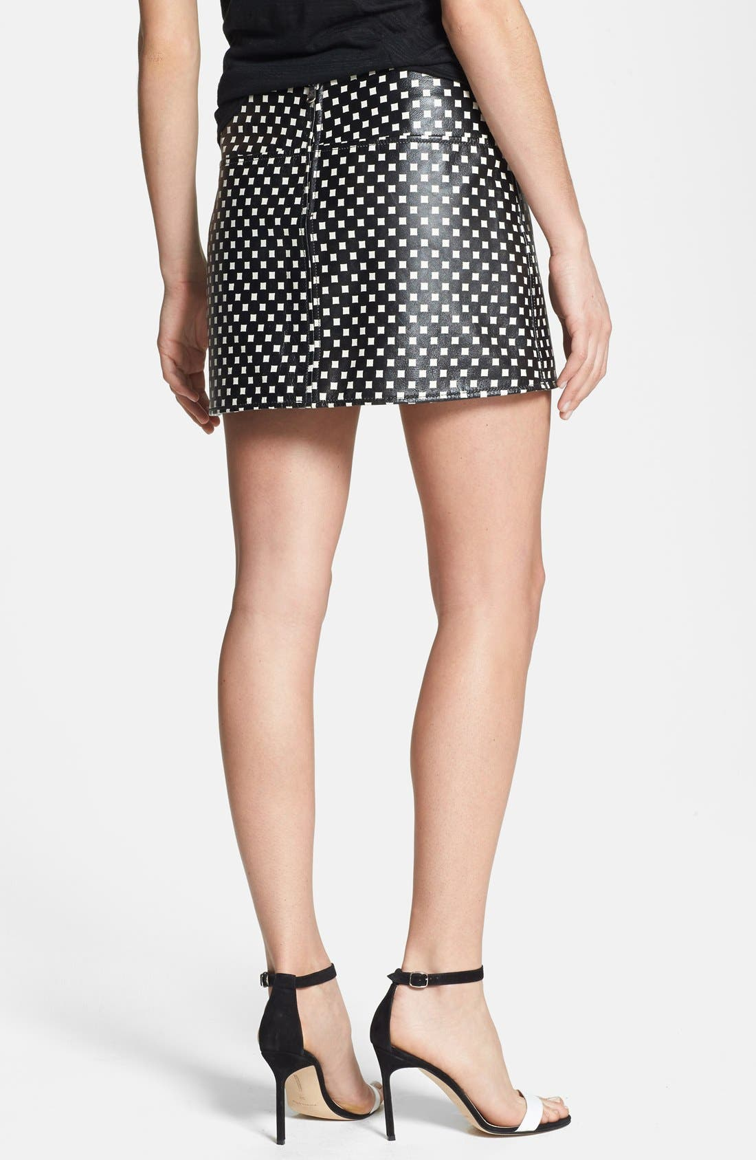 Alternate Image 2  - MARC BY MARC JACOBS Print Leather Skirt
