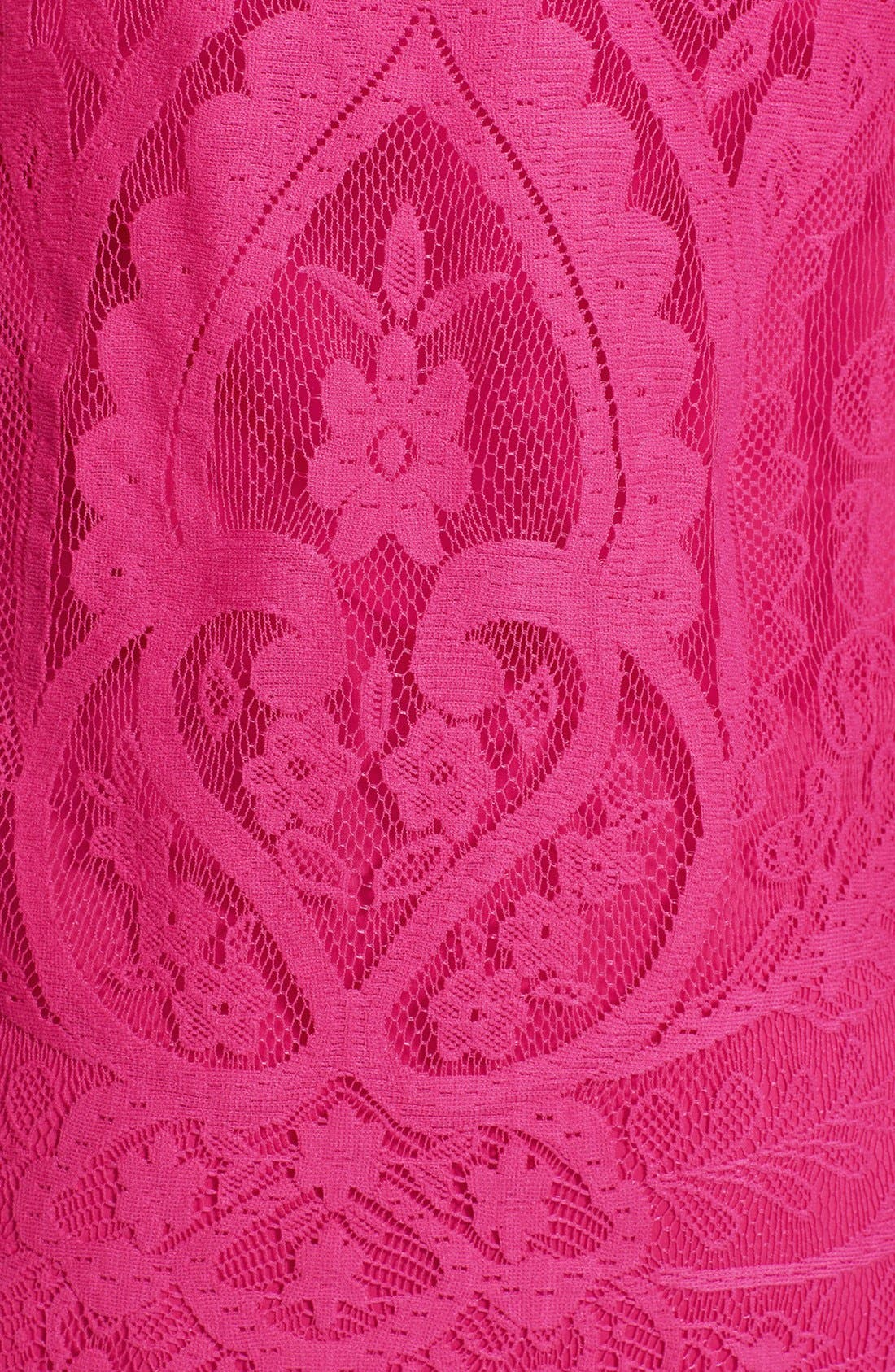 Alternate Image 4  - Nicole Miller Cap Sleeve Lace Dress