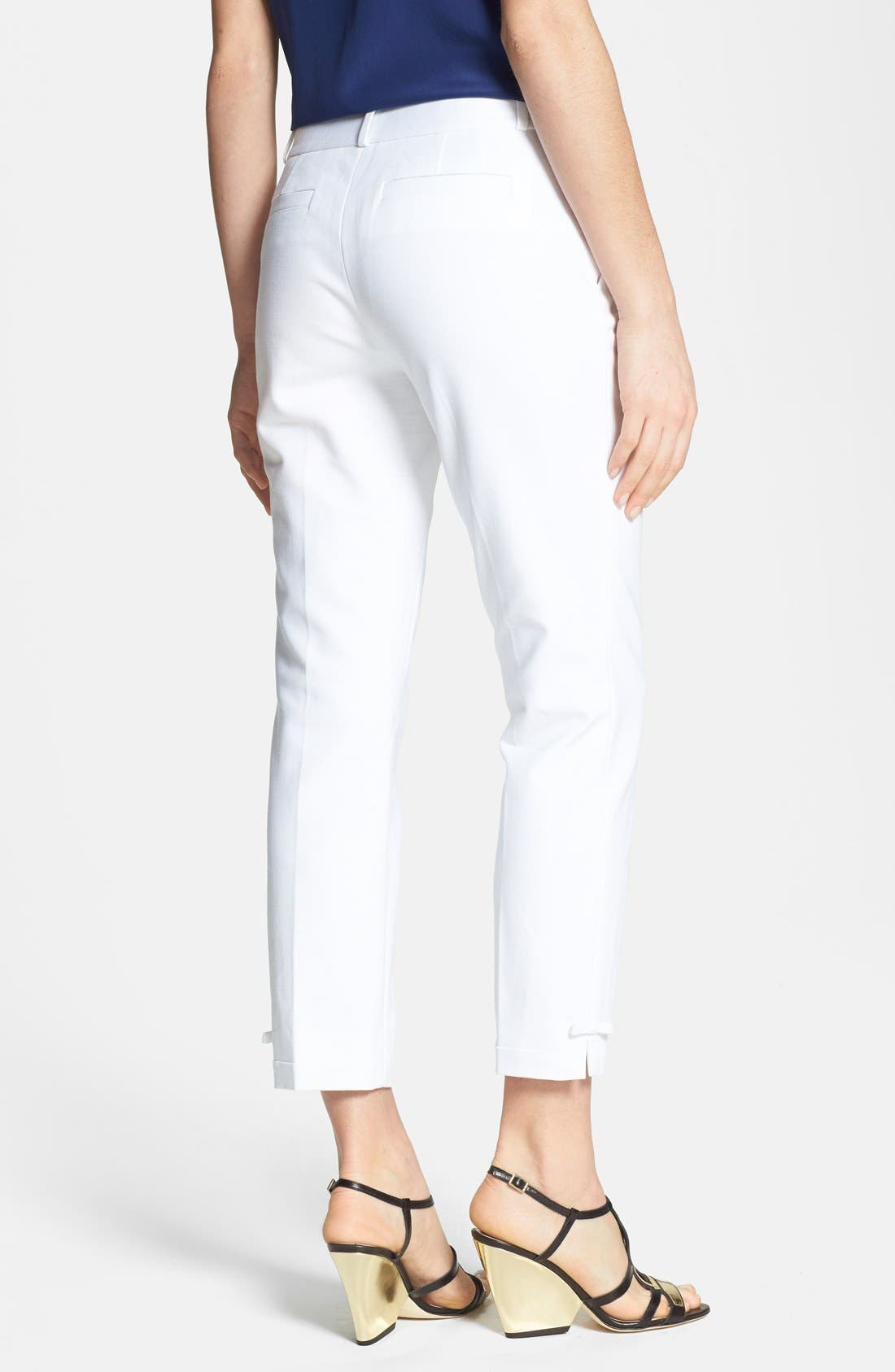 Alternate Image 2  - kate spade new york 'jackie' stretch cotton capri pants
