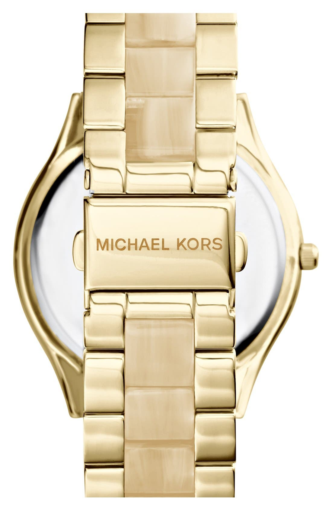 Alternate Image 2  - Michael Kors 'Slim Runway' Round Bracelet Watch, 42mm