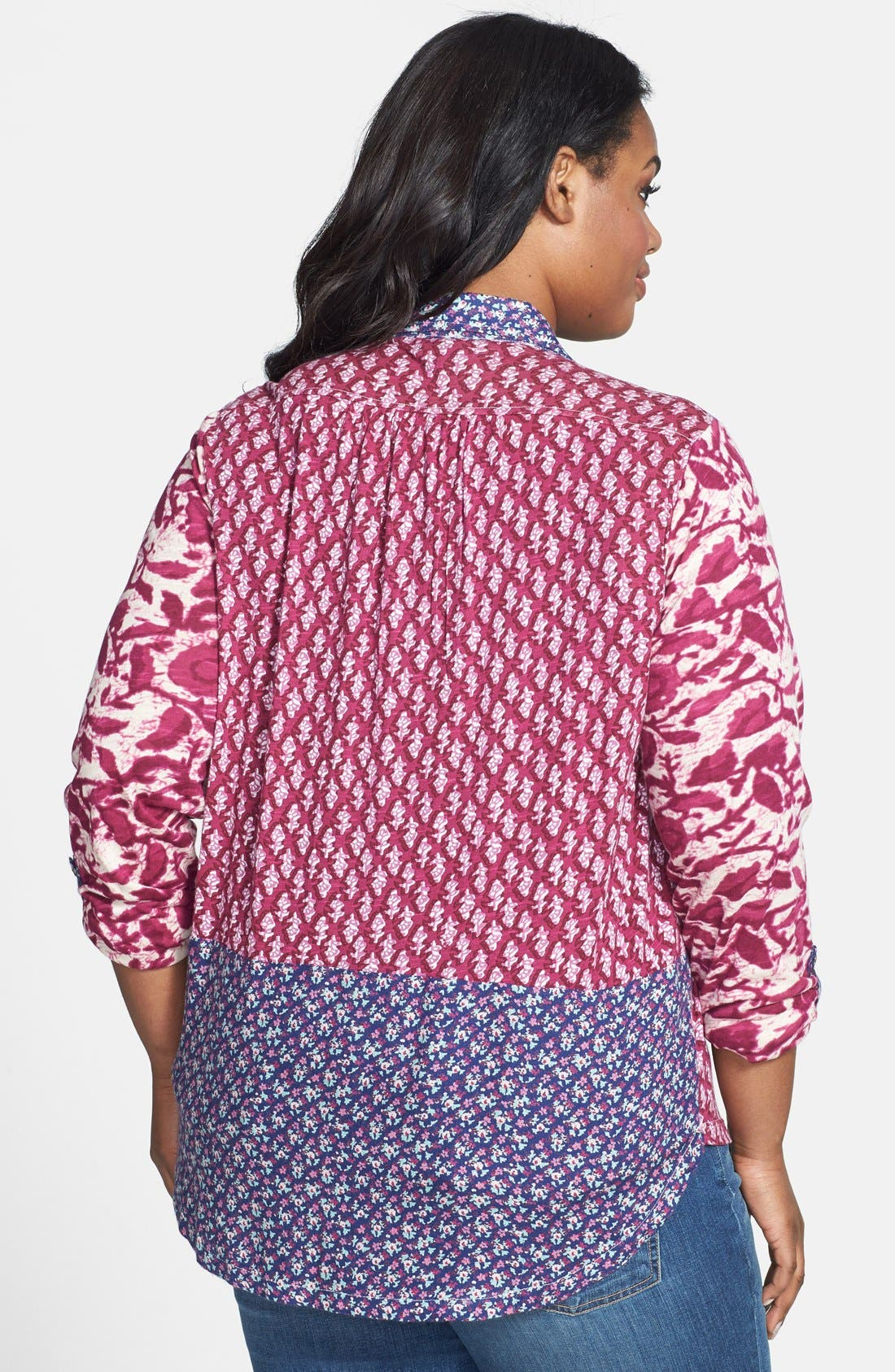 Alternate Image 2  - Lucky Brand 'Corte Madera' Tie Front Top (Plus Size)