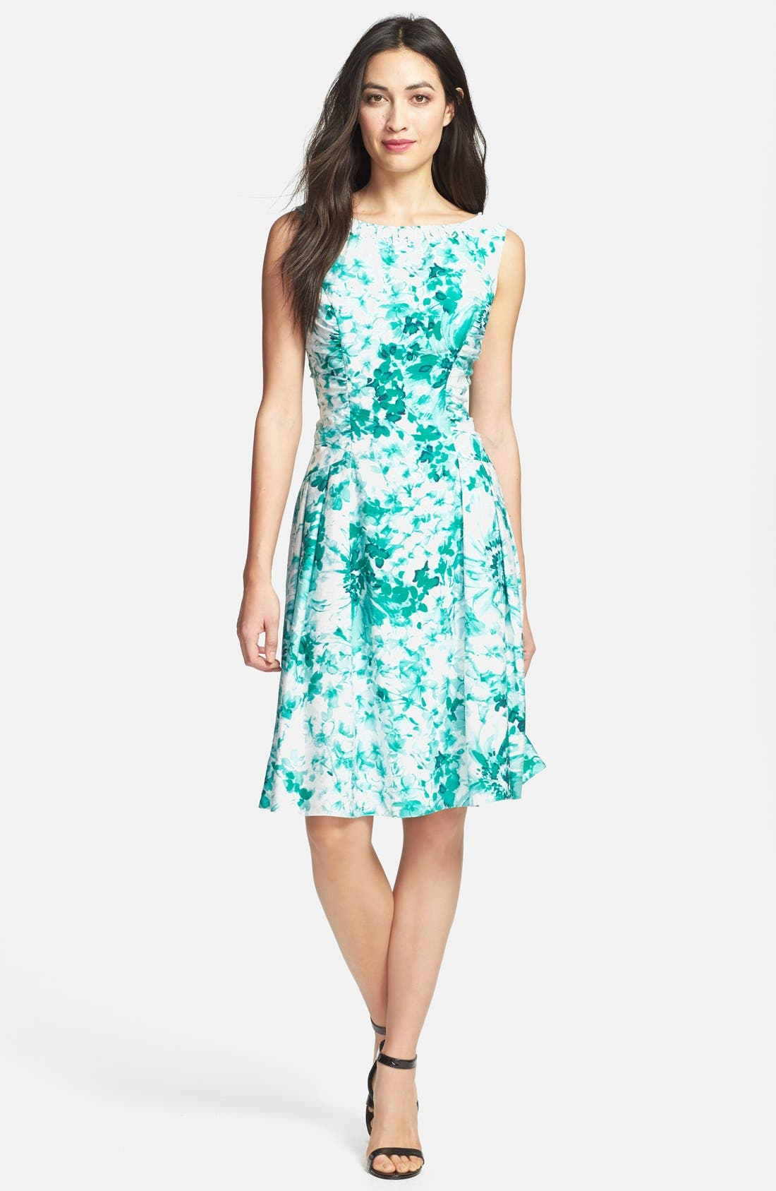Alternate Image 3  - Adrianna Papell Beaded Neck Floral Print Fit & Flare Dress