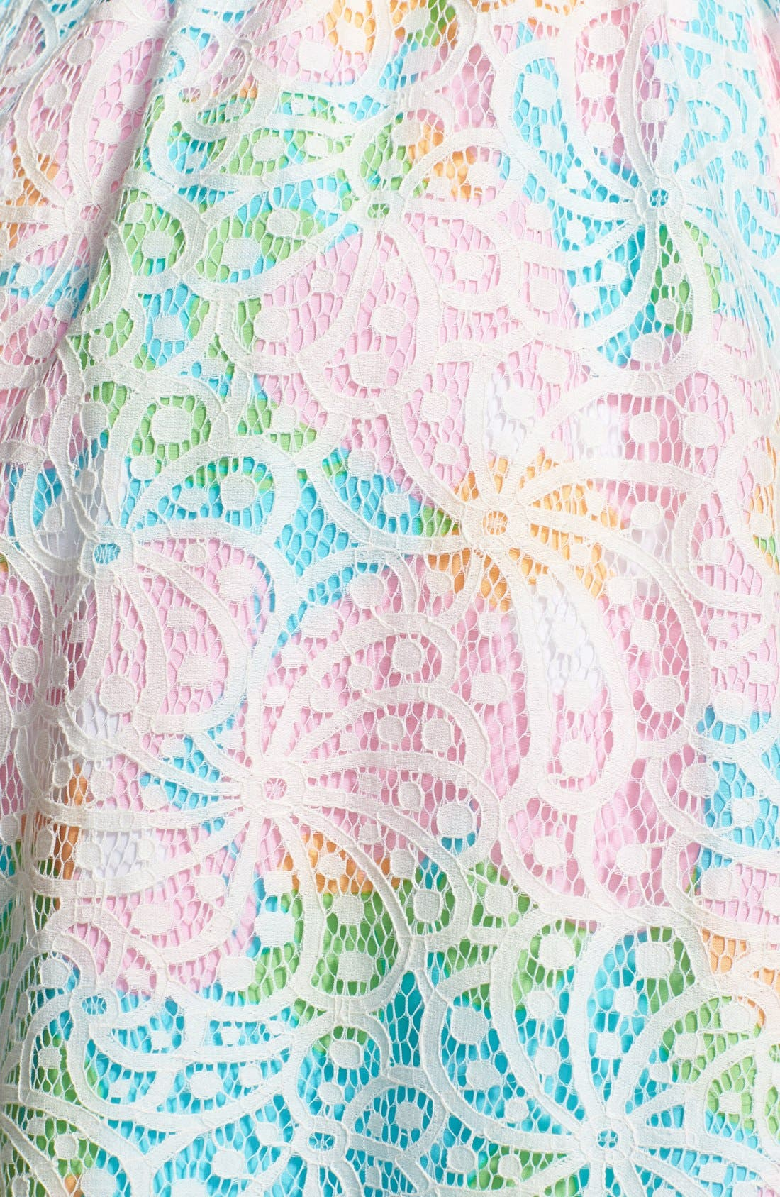 Alternate Image 3  - Lilly Pulitzer® 'Morrison' Lace Overlay Poplin Fit & Flare Dress