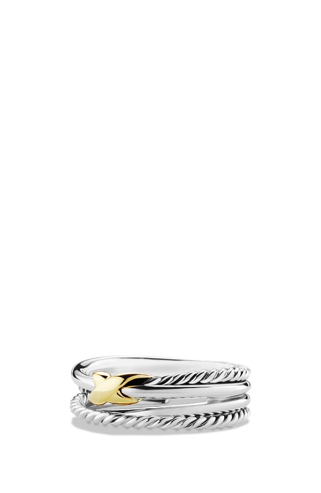 'X Crossover' Ring,                         Main,                         color, Two Tone