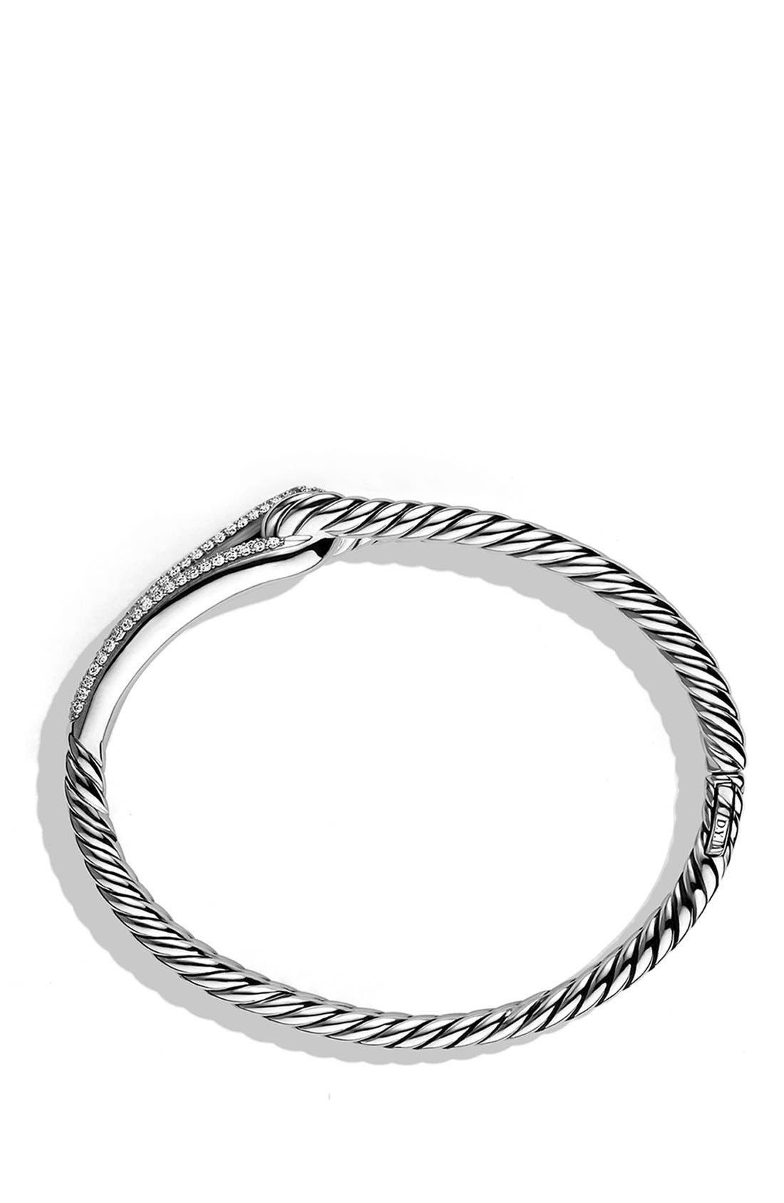 'Labyrinth' Single-Loop Bracelet with Diamonds,                             Alternate thumbnail 2, color,                             Diamond