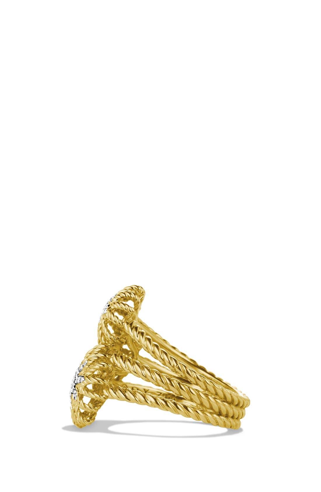 Alternate Image 2  - David Yurman 'Starburst' Cluster Ring with Diamonds in Gold
