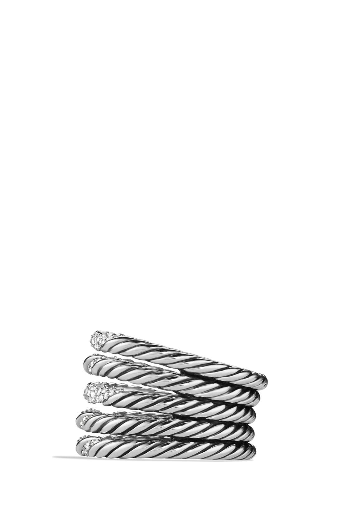 Alternate Image 2  - David Yurman 'Willow' Five-Row Ring with Diamonds
