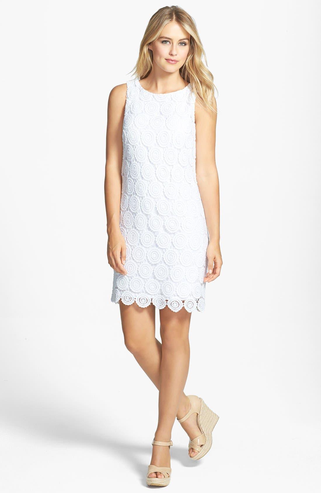 Alternate Image 3  - Eliza J Eyelet Lace Shift Dress
