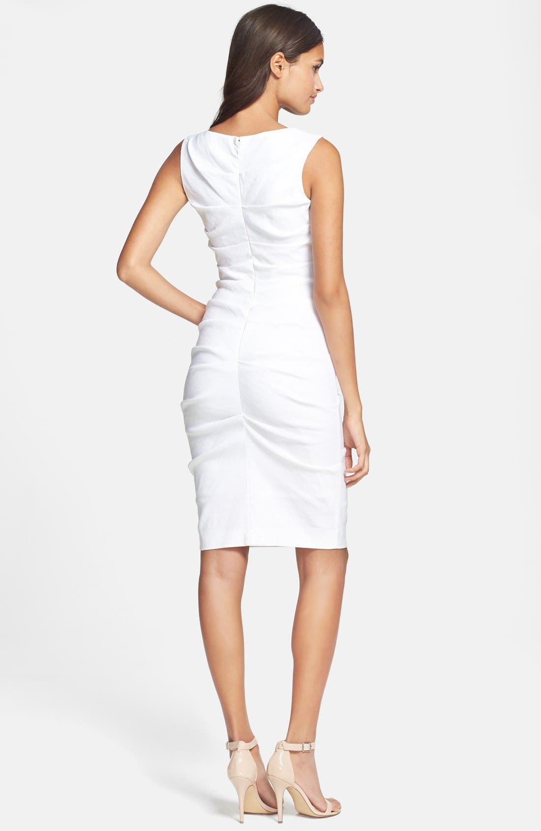 Alternate Image 2  - Nicole Miller Stretch Linen Sheath Dress