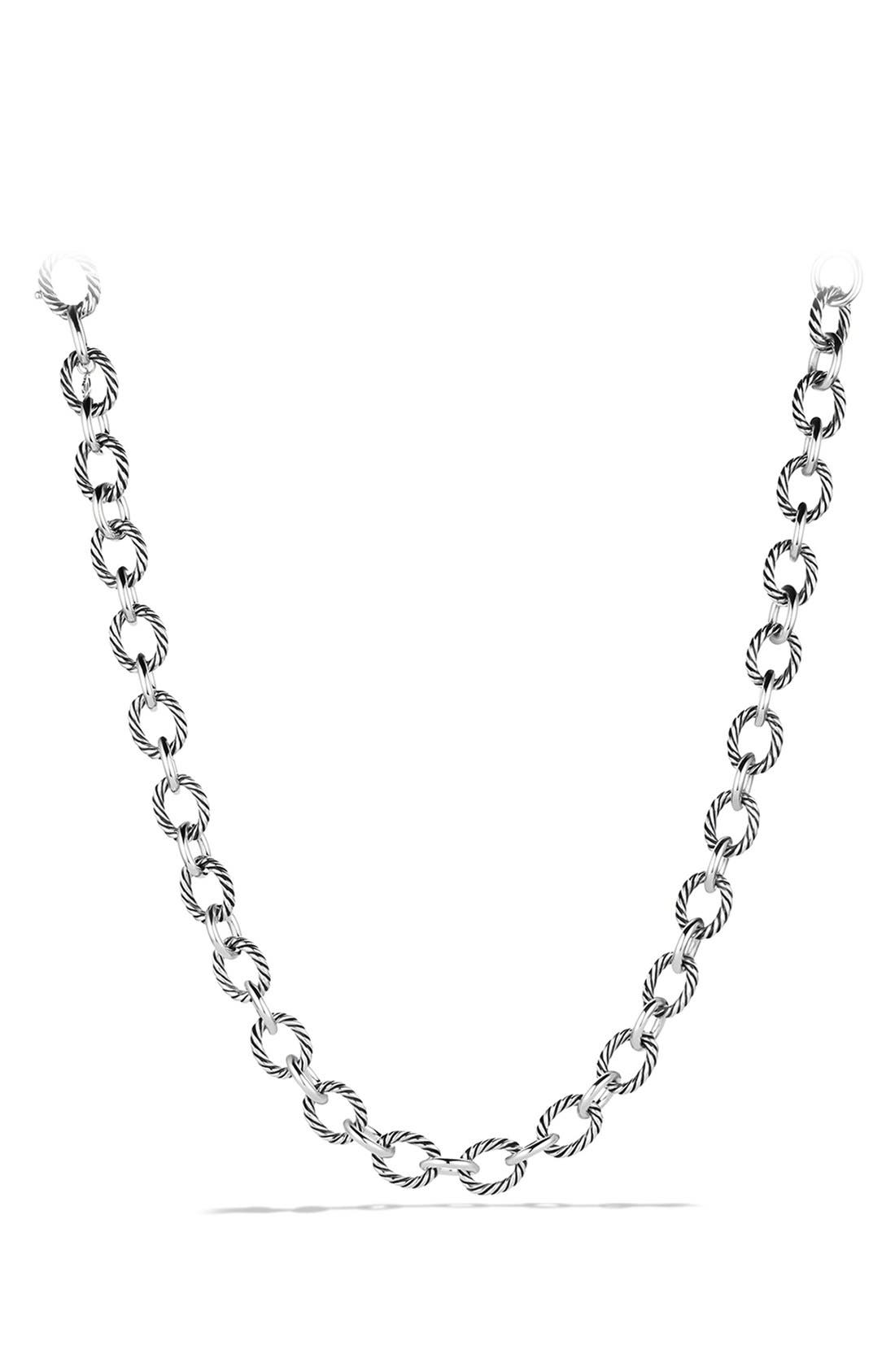 'Oval' Large Link Necklace,                         Main,                         color, Silver