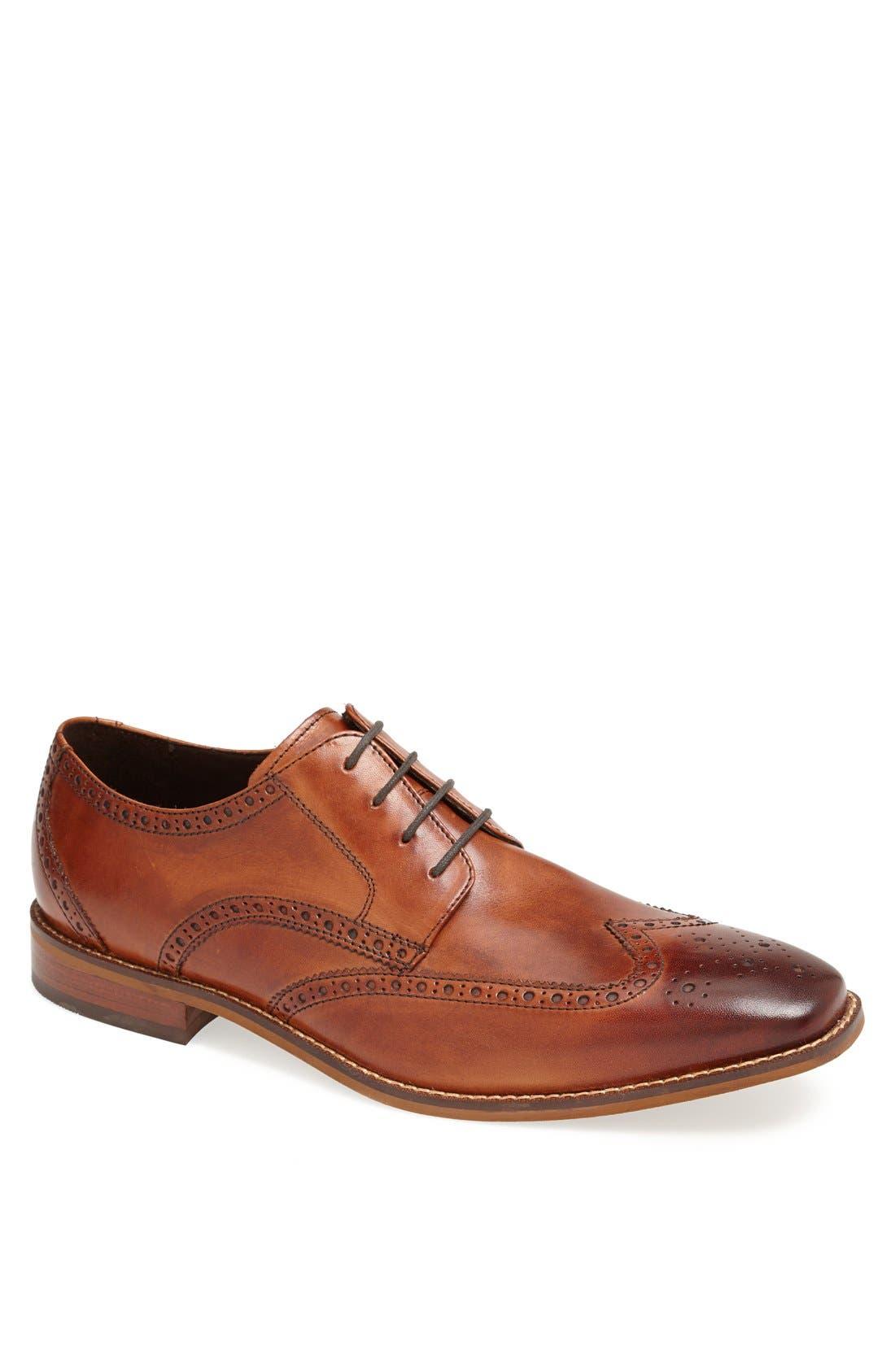 'Castellano' Wingtip,                         Main,                         color, Saddle Tan