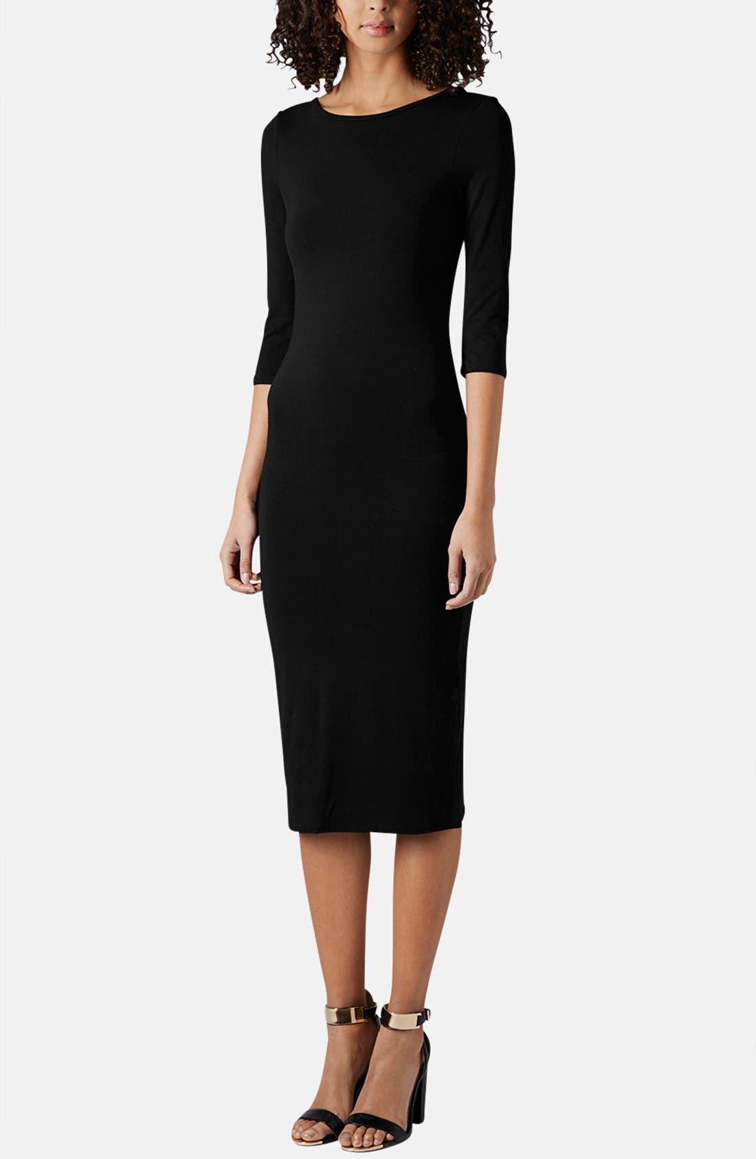 Alternate Image 5  - Topshop Scoop Back Jersey Body-Con Dress