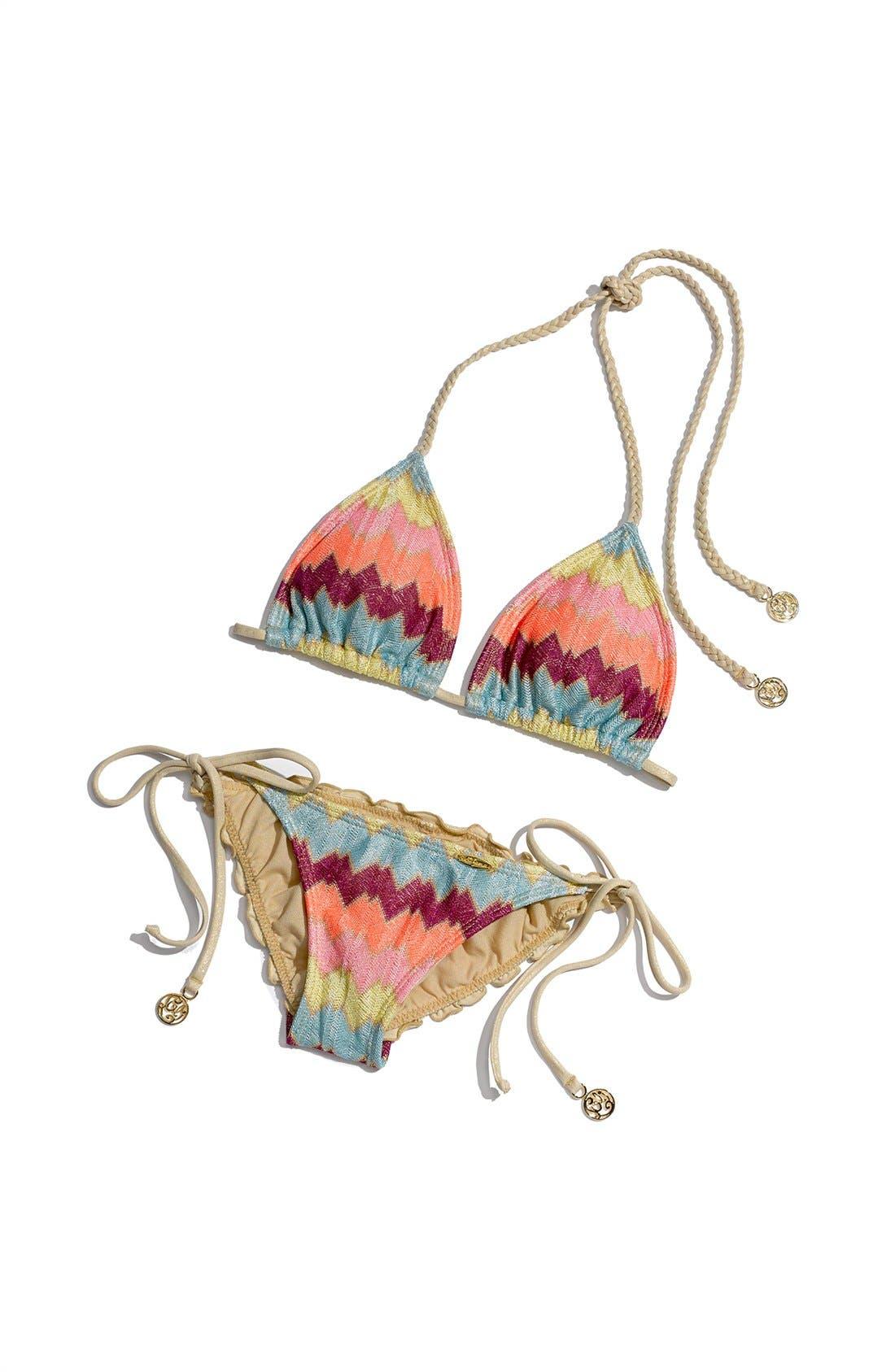 'La Fama' Triangle Bikini Top,                             Alternate thumbnail 6, color,