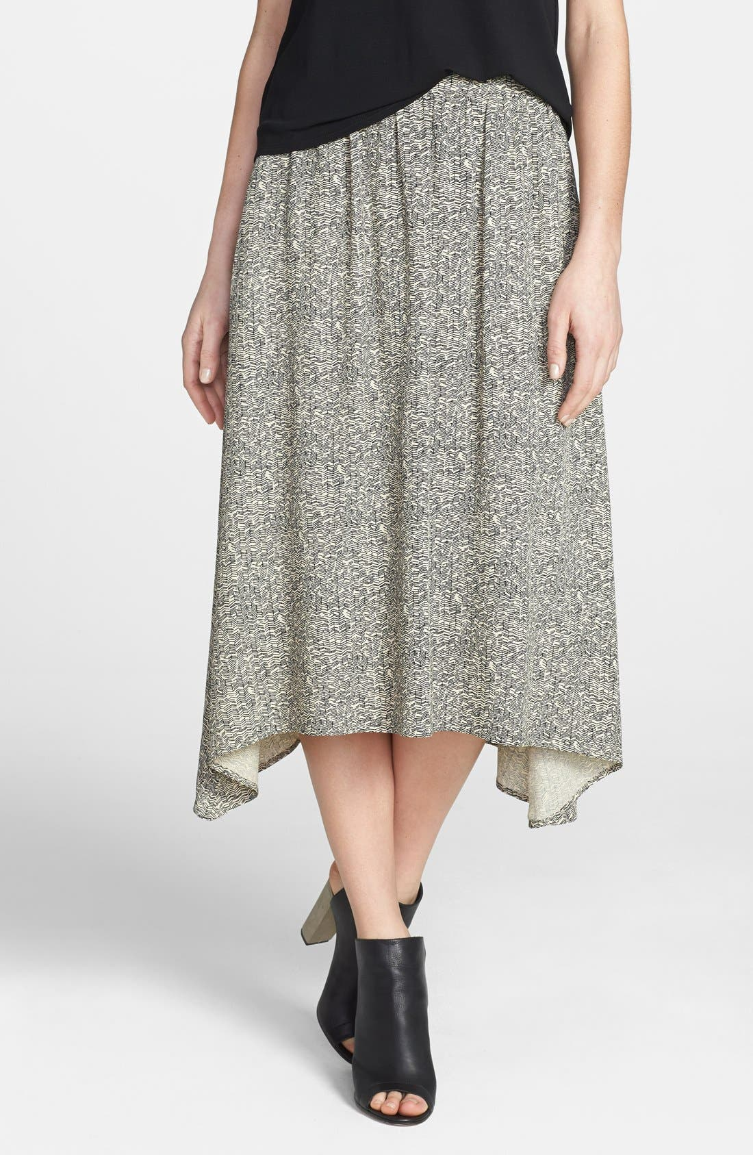 Main Image - Eileen Fisher Print Midi Skirt