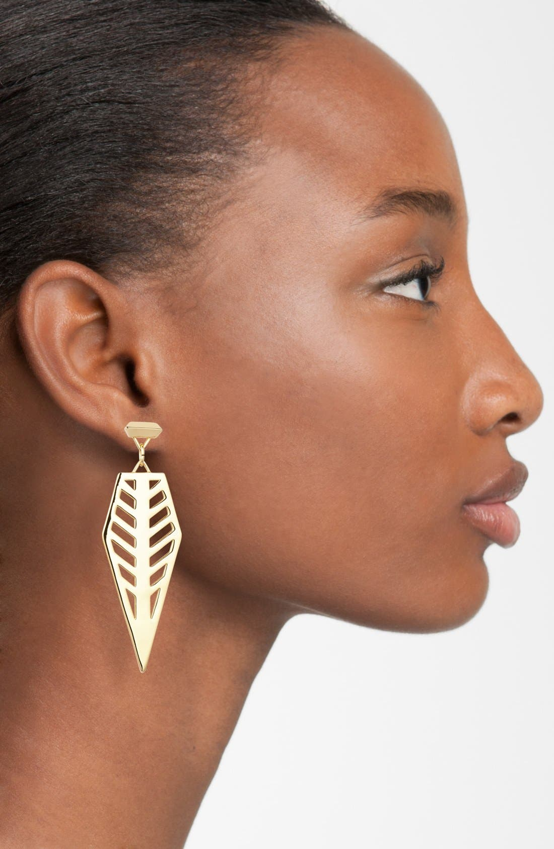 Alternate Image 2  - Rebecca Minkoff 'Major Laser' Cutout Blade Drop Earrings