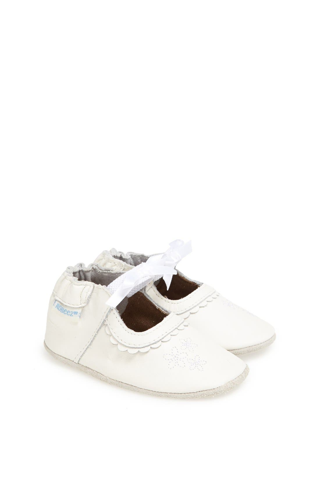 Alternate Image 1 Selected - Robeez® 'Special Occasion' Crib Shoe (Baby & Walker)