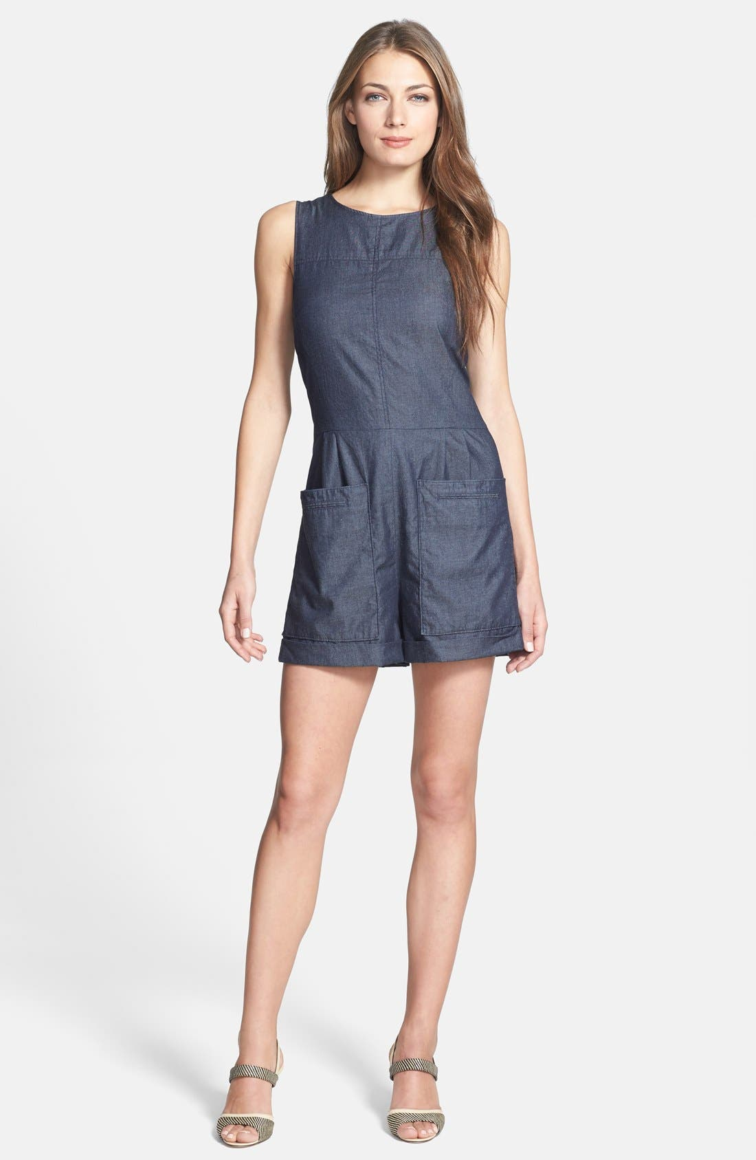 Main Image - Theory 'Hadrine D.' Denim Romper