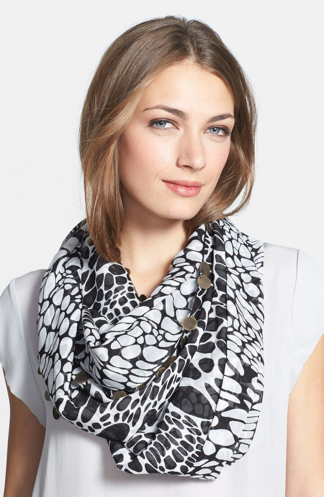 Alternate Image 1 Selected - Diane von Furstenberg Silk Blend Infinity Scarf