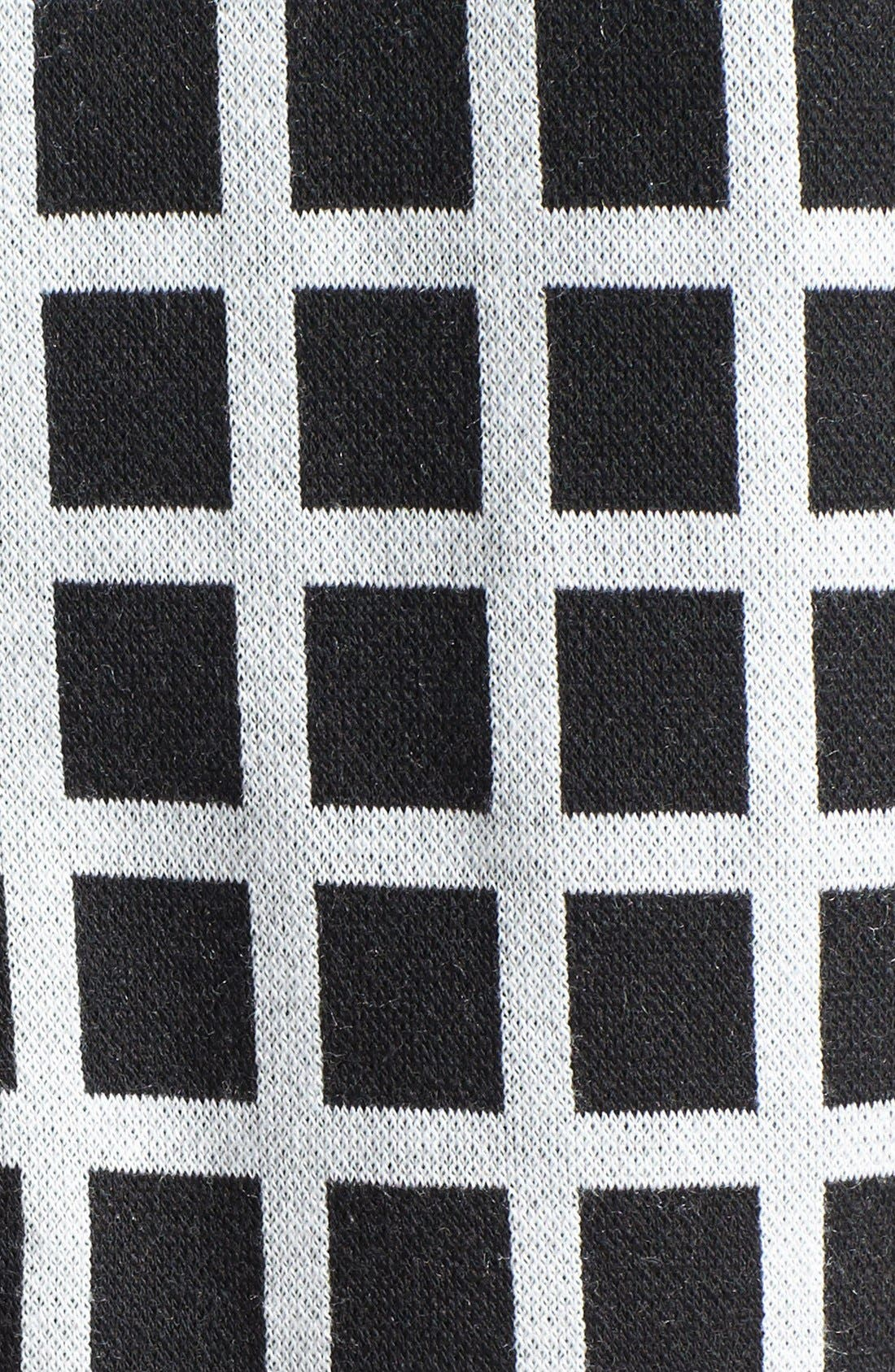 Alternate Image 3  - Halogen® Colorblock Check Pattern Ponte Top (Petite)