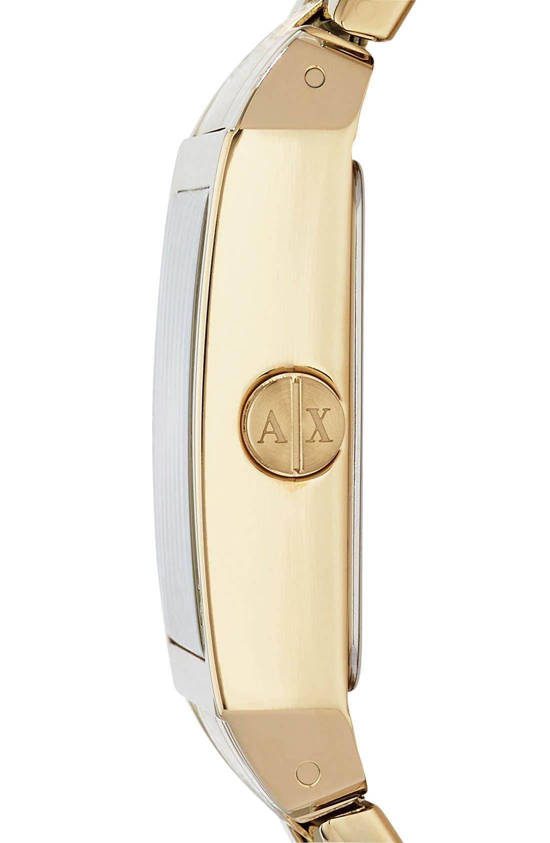 Alternate Image 3  - AX Armani Exchange Rectangular Bracelet Watch