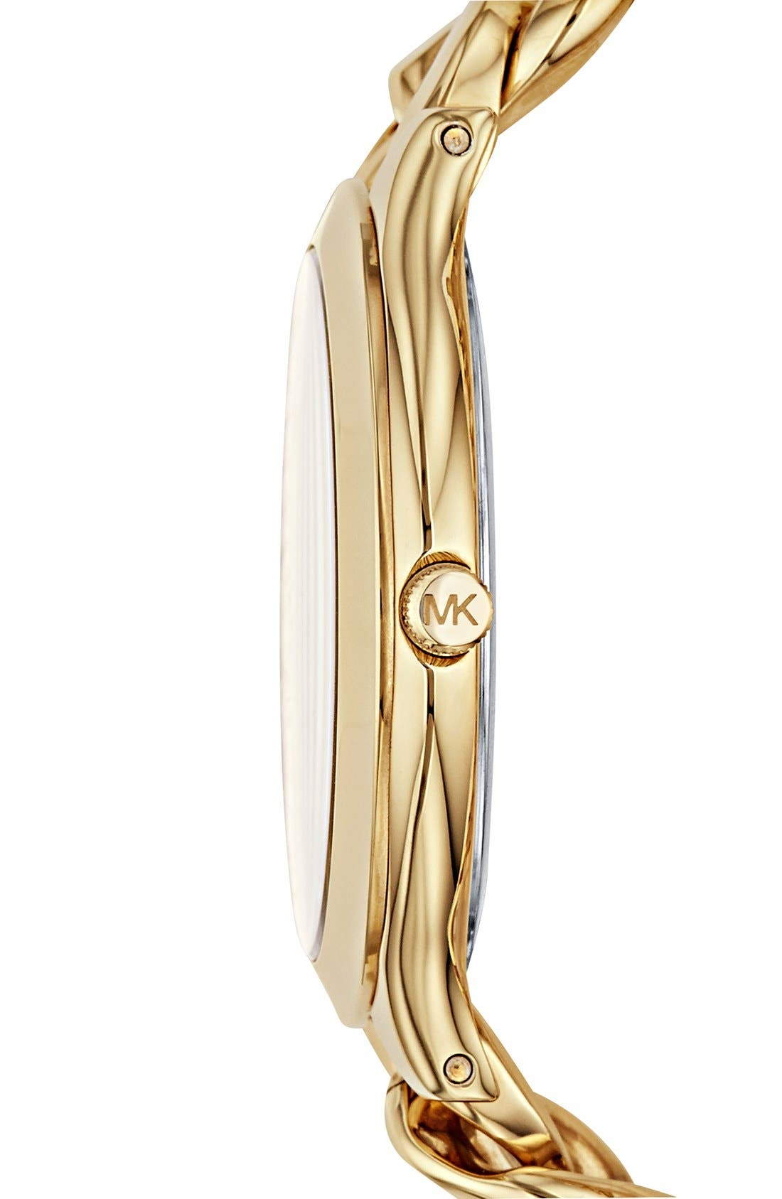 Alternate Image 3  - Michael Kors 'Slim Runway' Chain Bracelet Watch, 42mm