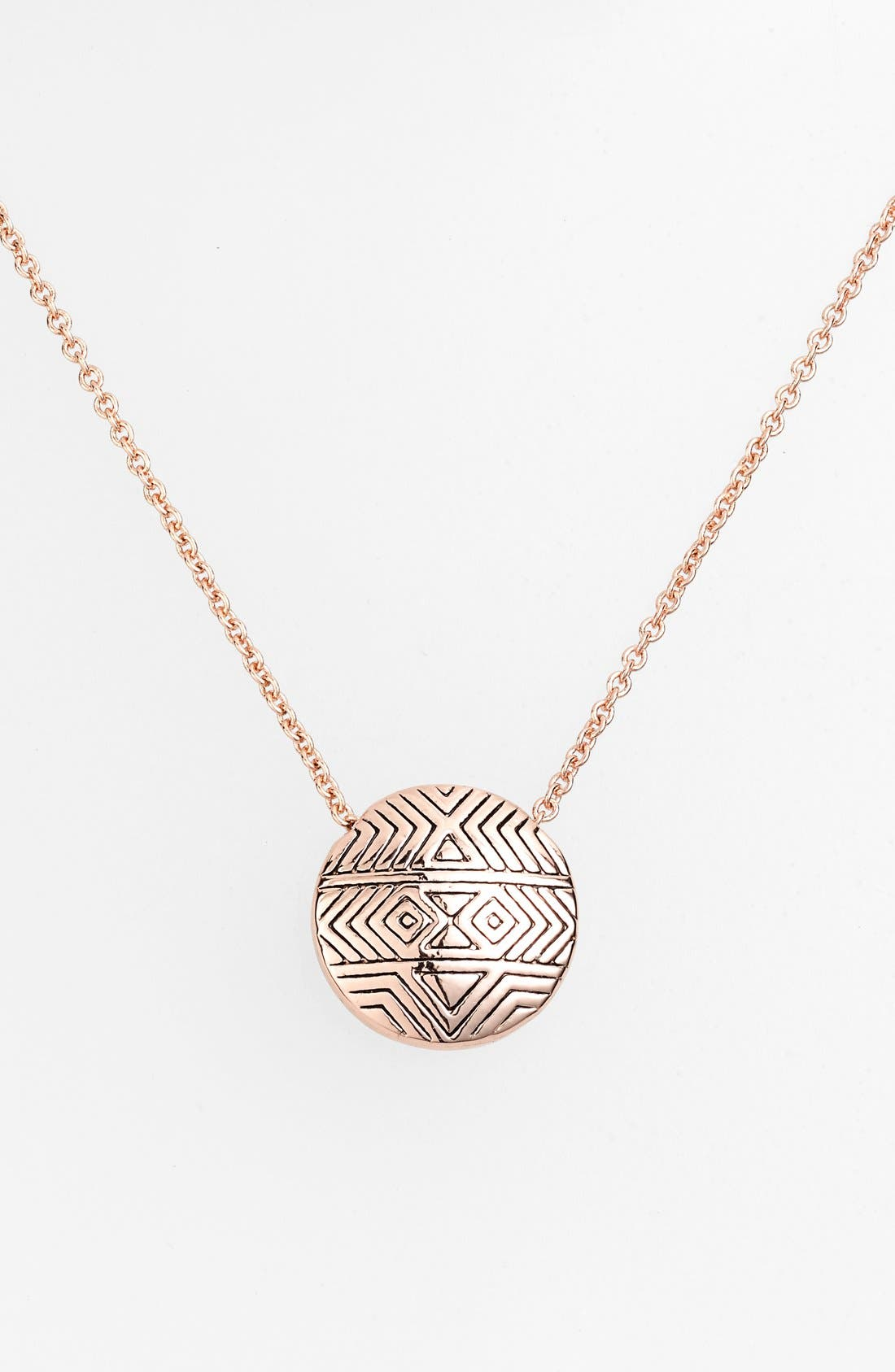 Main Image - House of Harlow 1960 'Tholos' Engraved Pendant Necklace