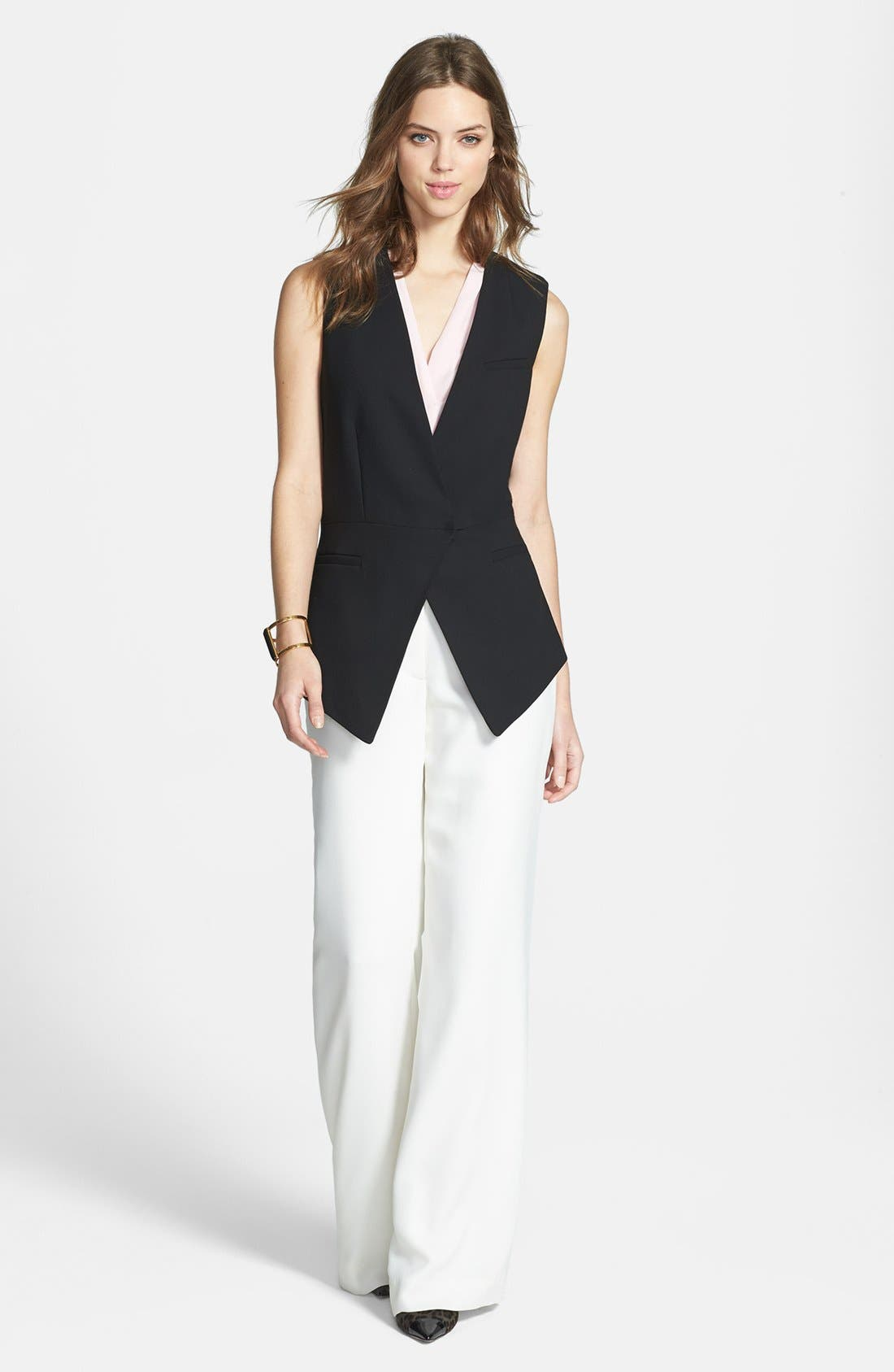 Alternate Image 1 Selected - Vince Camuto Angled Front Vest