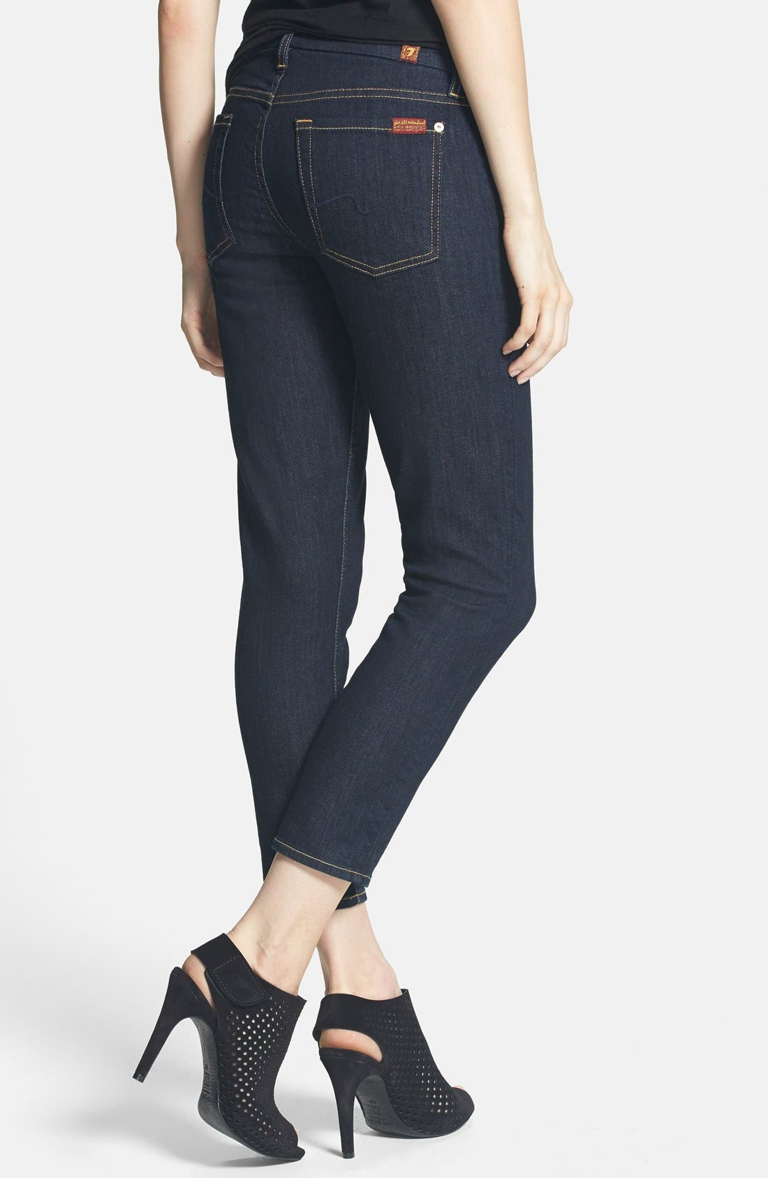 Alternate Image 2  - 7 For All Mankind® 'Kimmie' Crop Skinny Jeans (Ink)