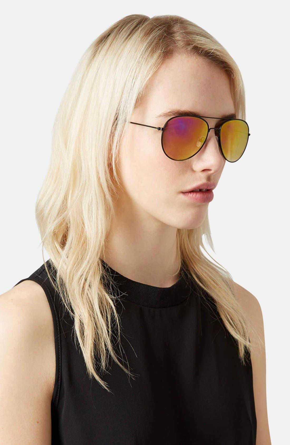 Alternate Image 2  - Topshop 'Alice' Aviator Sunglasses
