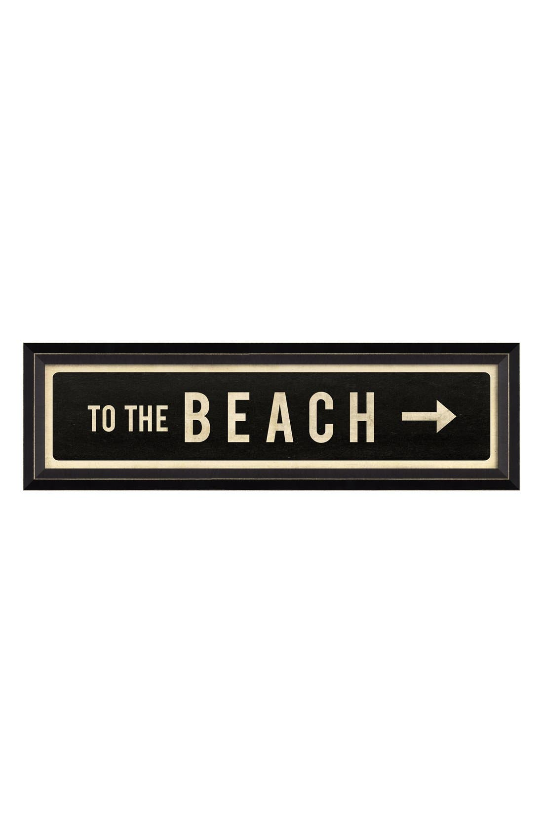 Alternate Image 1 Selected - Spicher and Company 'To the Beach' Vintage Look Sign Artwork