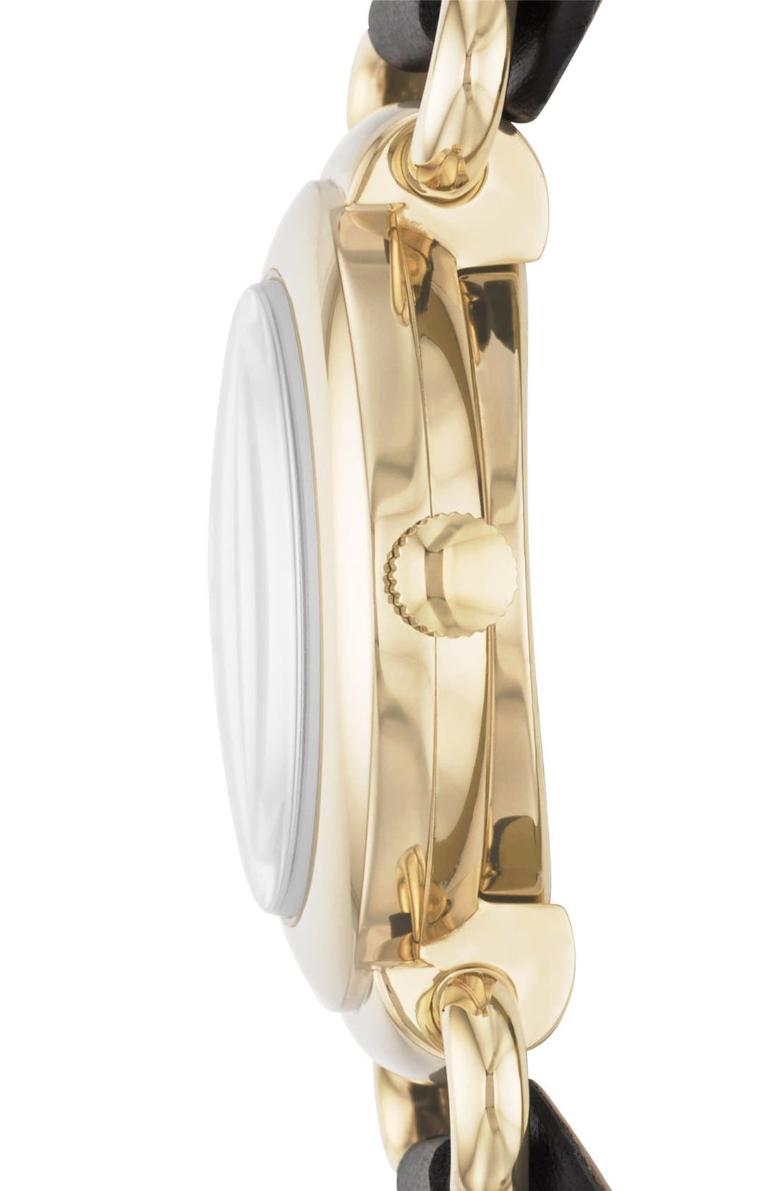 Alternate Image 3  - MARC BY MARC JACOBS 'Small Molly' Leather Strap Watch, 30mm