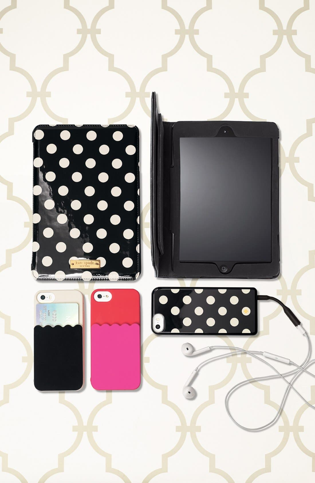Alternate Image 2  - kate spade new york 'scallop pocket' card holder iPhone 5 & 5s case