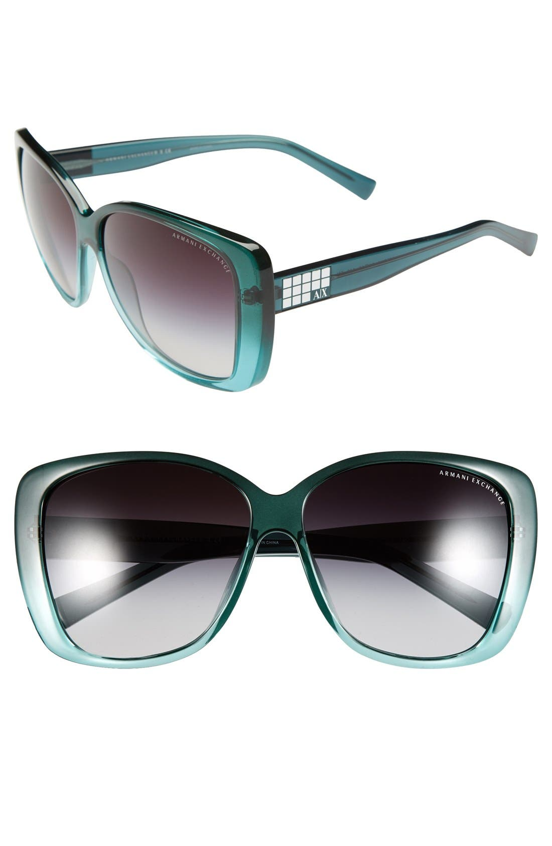 Main Image - AX Armani Exchange 'Butterfly Glam' 61mm Sunglasses