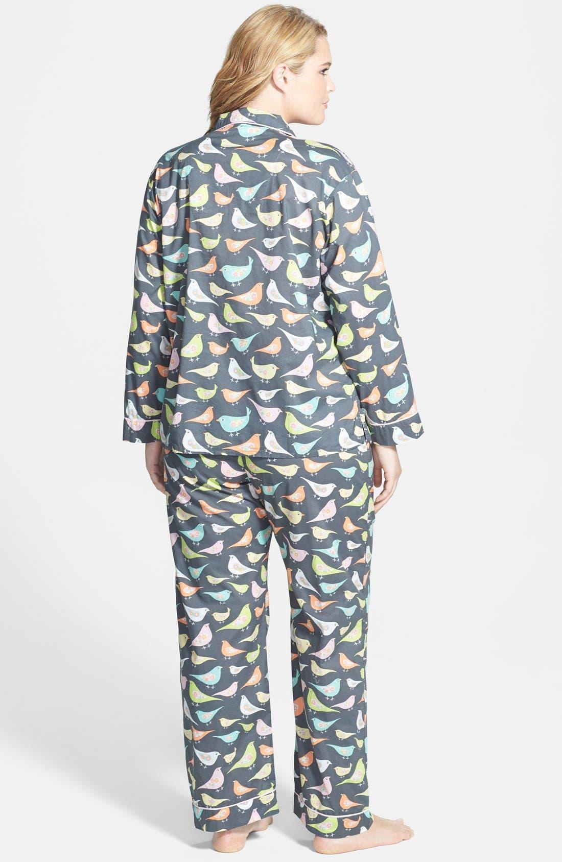 Alternate Image 2  - PJ Salvage 'Playful Prints' Cotton Voile Pajamas (Plus Size)