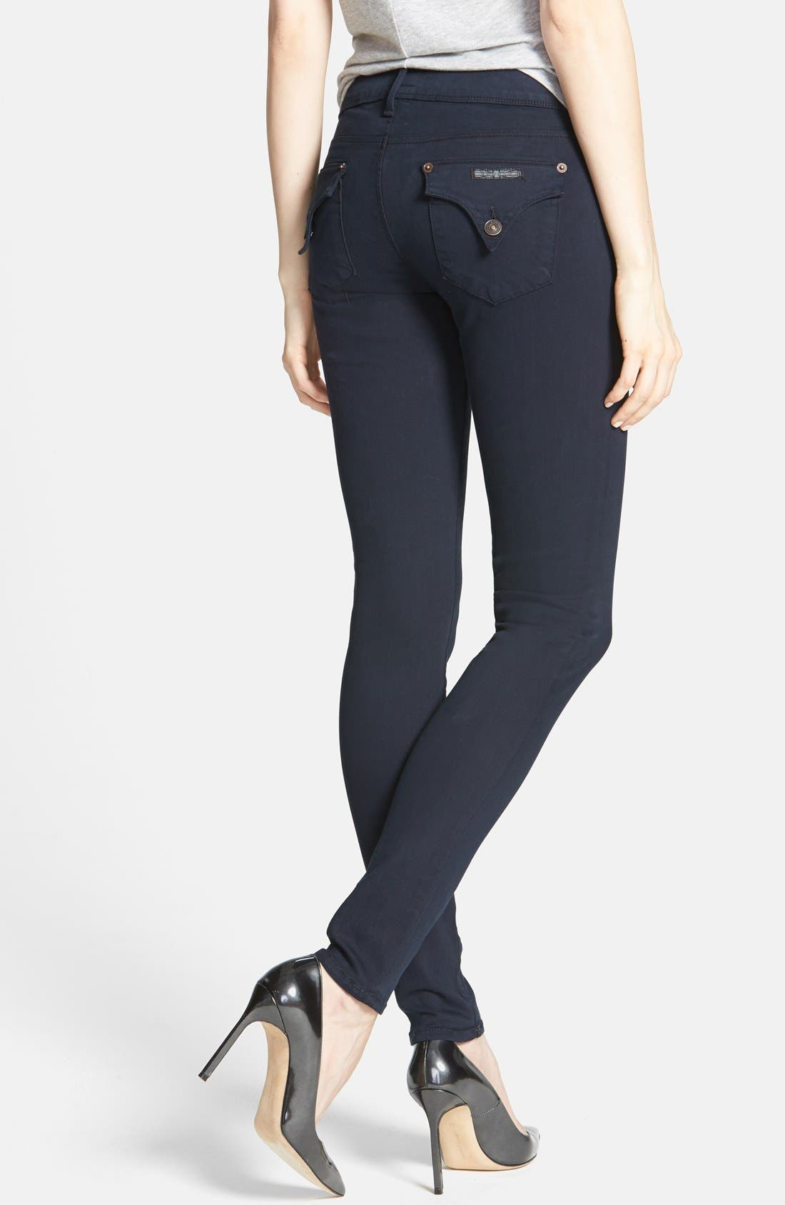 Alternate Image 2  - Hudson Jeans 'Collin' Skinny Stretch Jeans (Black Iris)