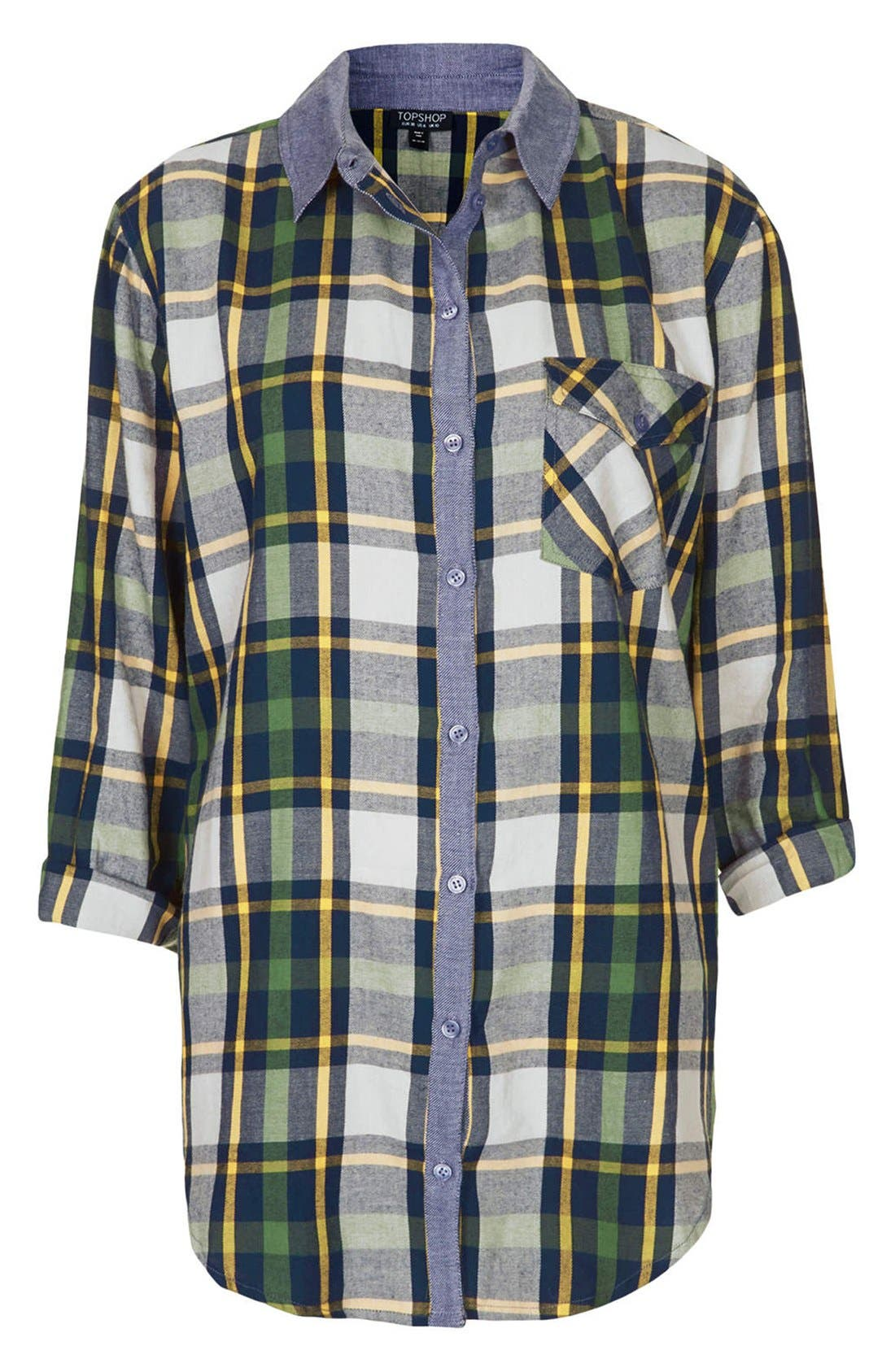 Alternate Image 3  - Topshop 'Marvin' Oversized Plaid Shirt